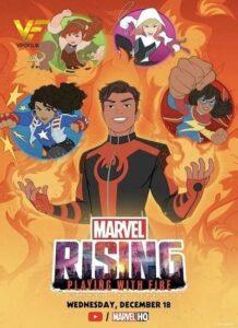 دانلود انیمیشن مارول بر می خیزد: بازی با آتش Marvel Rising: Playing with Fire 2019