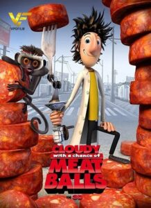 دانلود انیمیشن ابری با احتمال بارش کوفته قلقلی Cloudy With A Chance of Meatballs 2009